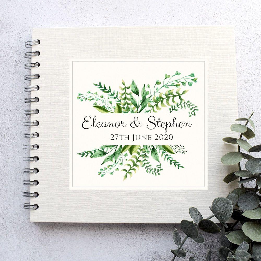 Botanical Ferns Wedding Guest Book