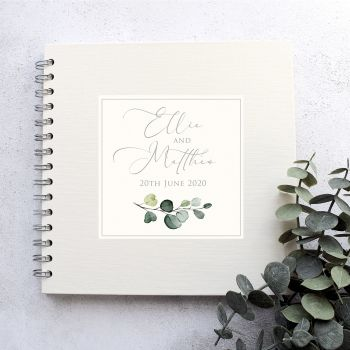Simple Elegance Wedding Guest Book