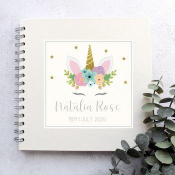 Unicorn Christening, Naming Day, Birthday Guest Book