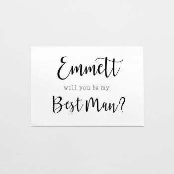 Best Man or Groomsman Proposal Card