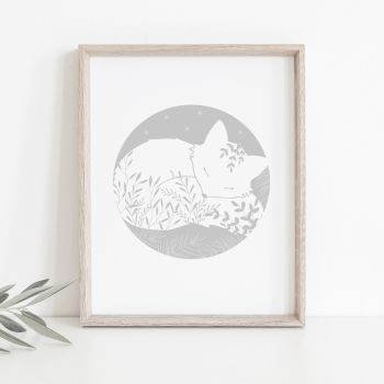 Dreamy Fox Floral Print - 4 Colours