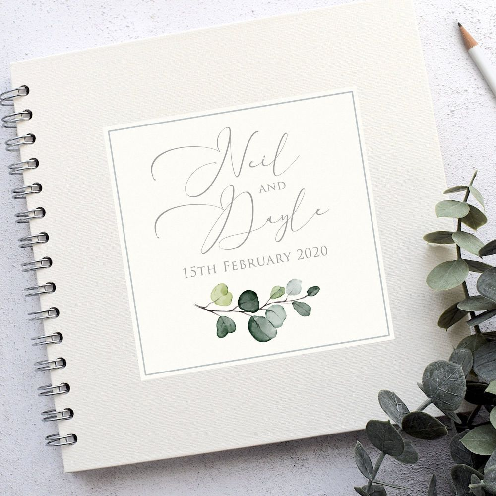 Simply Botanical Wedding Guest Book