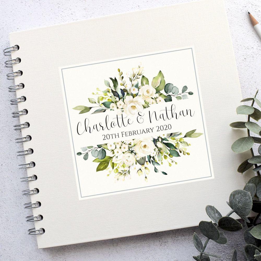 Floral Frame Wedding Guest Book