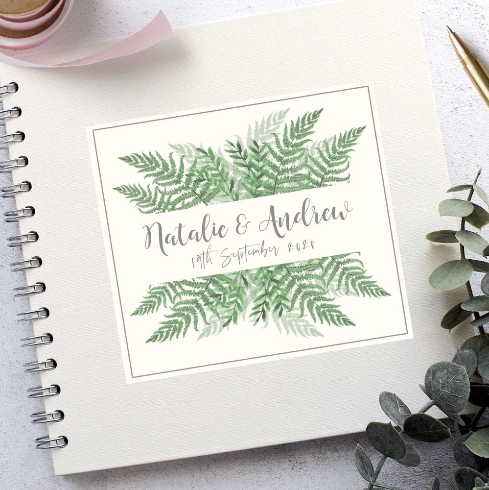 Botanical Fern Wedding Guest Book