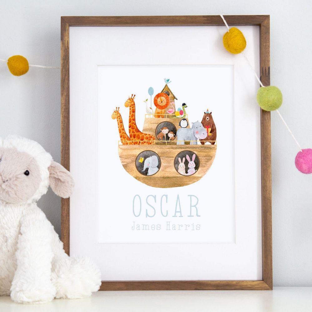 Noah's Ark Personalised Print