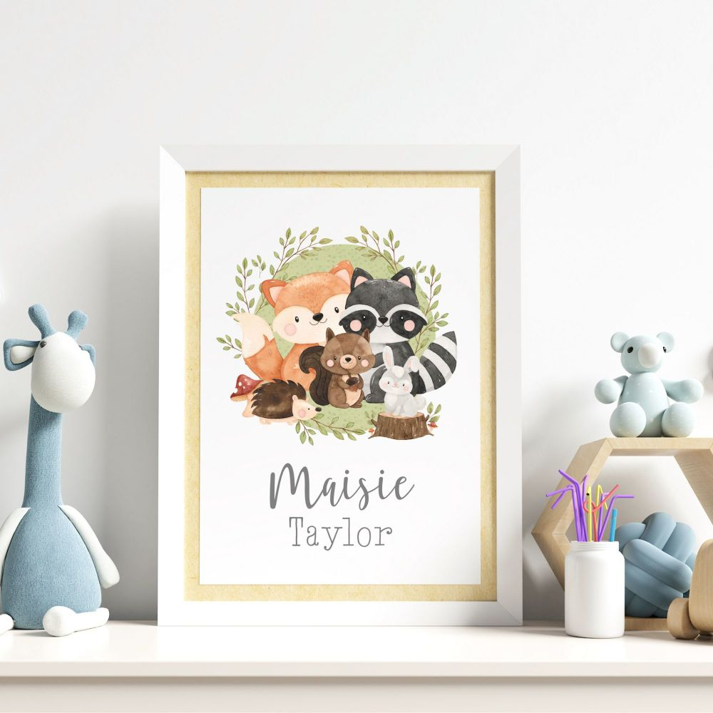 Woodland Friends Print