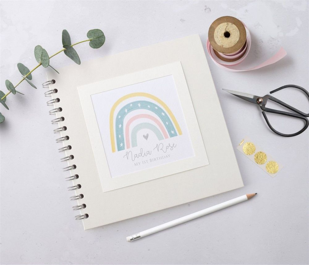 Pastel Rainbow Baby Scrapbook