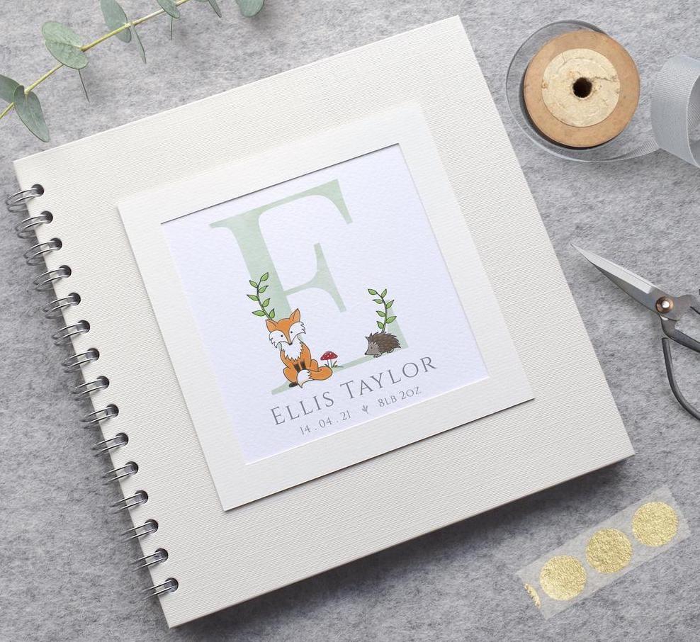 Woodland Fox Baby Scrapbook