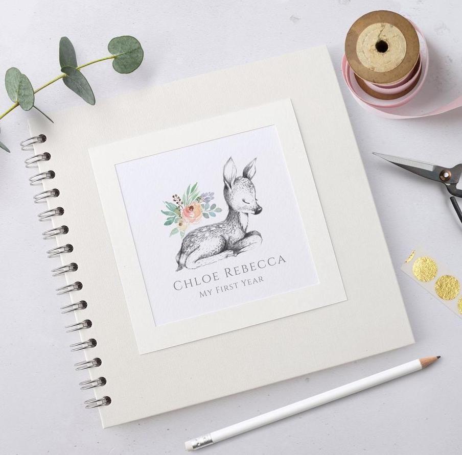 Woodland Fawn Baby Scrapbook