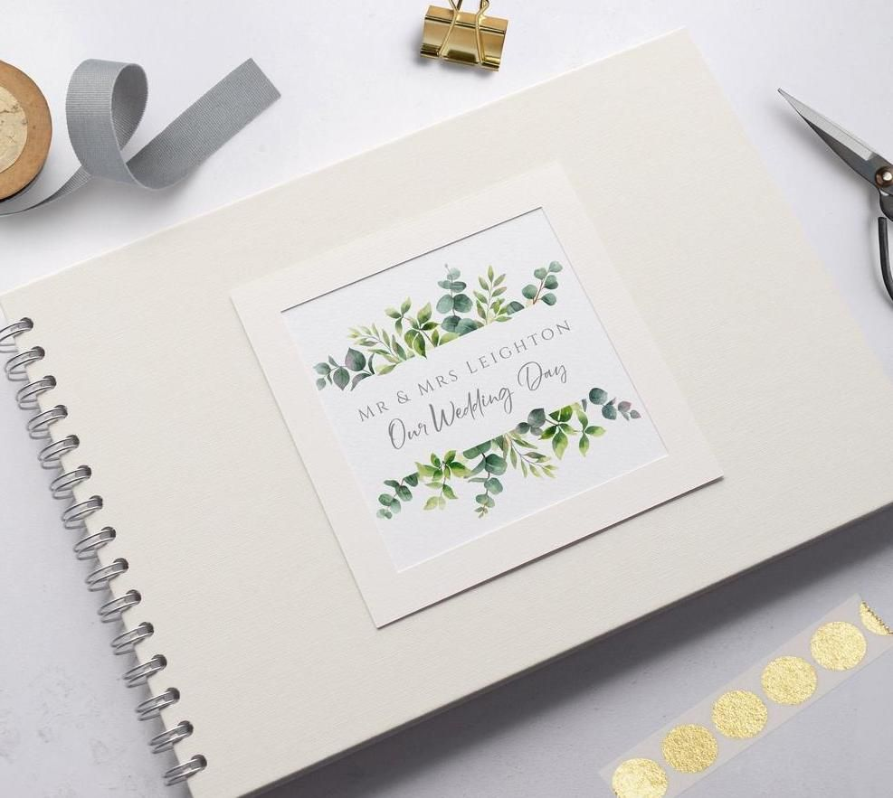 Greenery Frame Wedding Photo Album