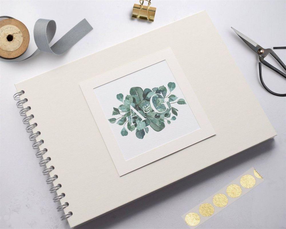 Eucalyptus Initials Wedding Photo Album