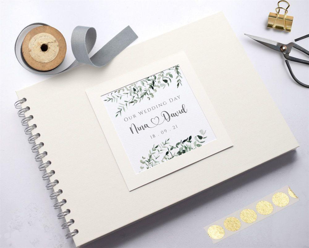 Botanical Heart Wedding Photo Album