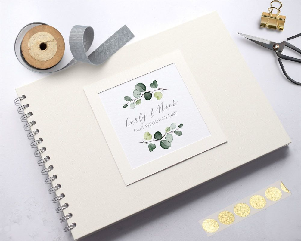 Eucalyptus Leaf Wedding Photo Album