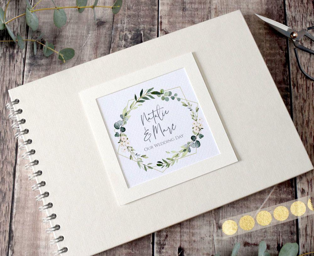 Geo Botanical Wedding Photo Album