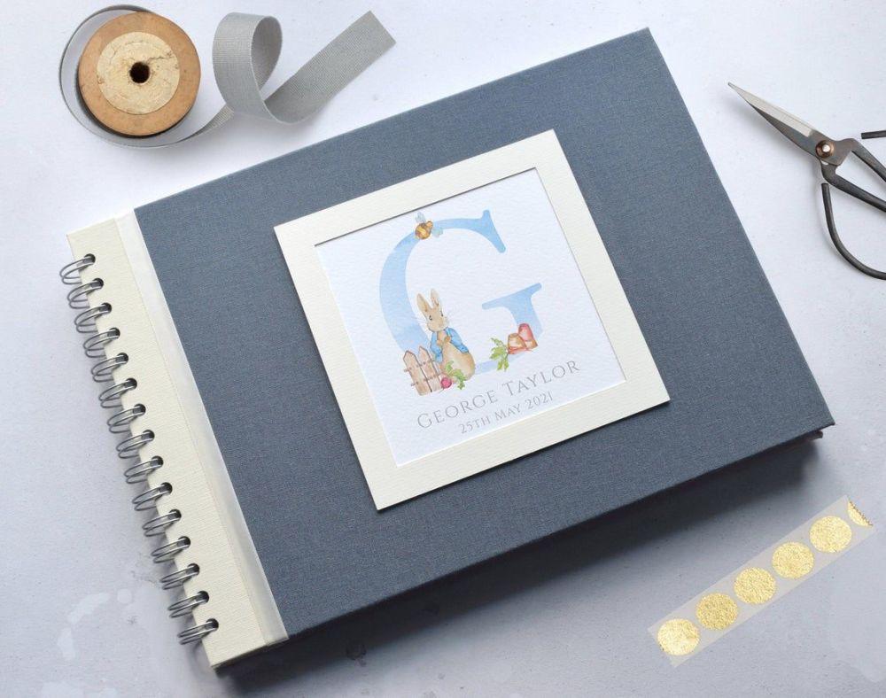 Peter Rabbit Baby Photo Album - Blue Cover