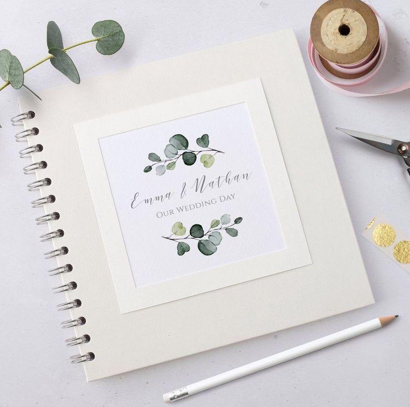 Eucalyptus Leaf Wedding Guest Book