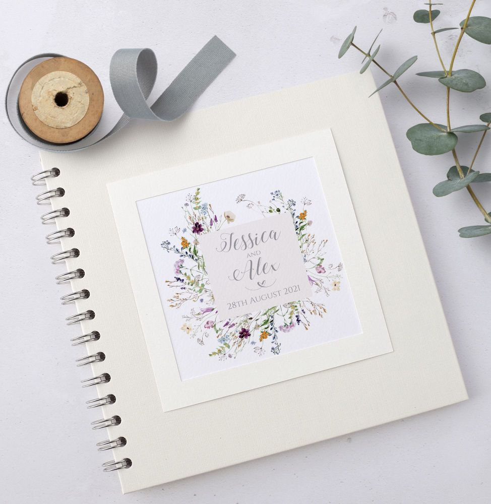 Wild Flower Meadow Wedding Guest Book