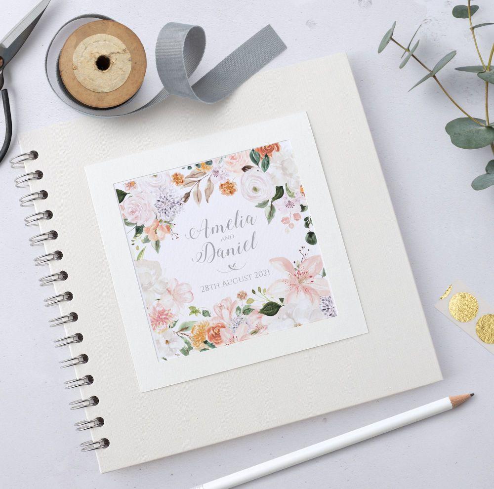 Blush Botanical Wedding Guest Book