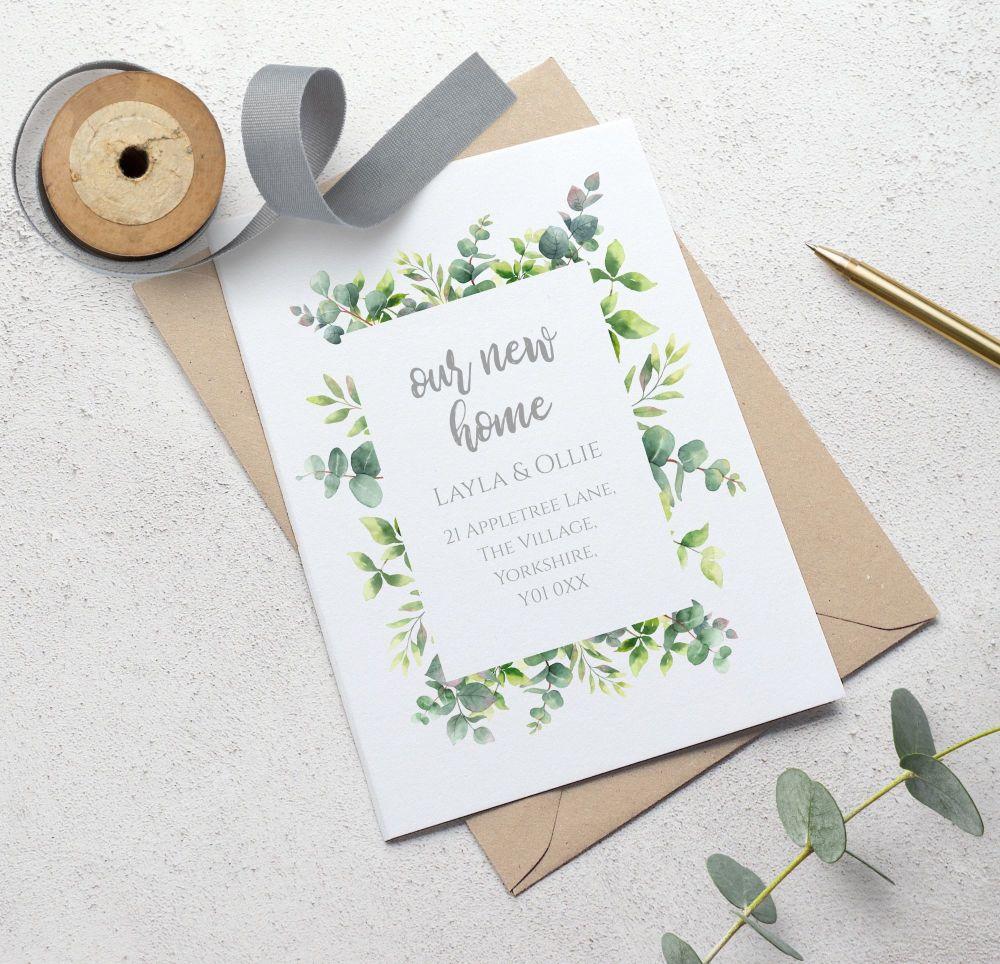 Botanical Frame New Address Cards