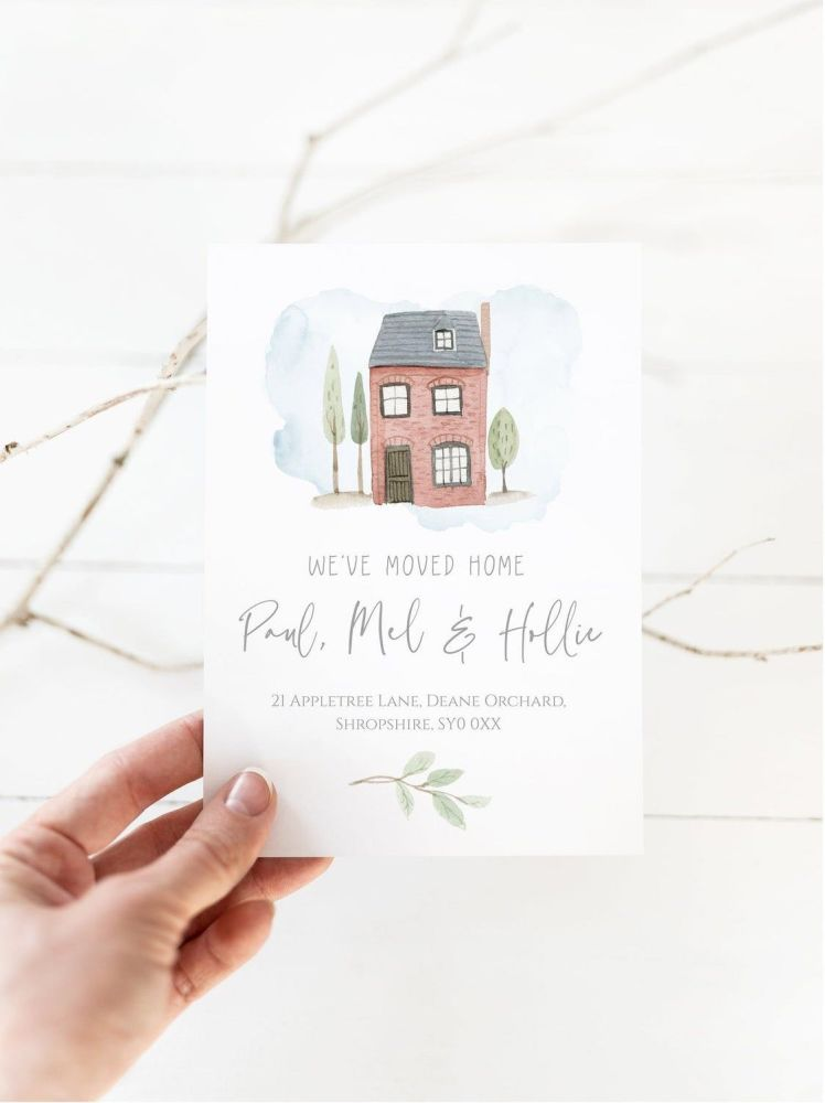 Red Brick House New Address Cards
