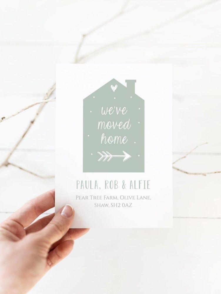 Contemporary House New Address Cards