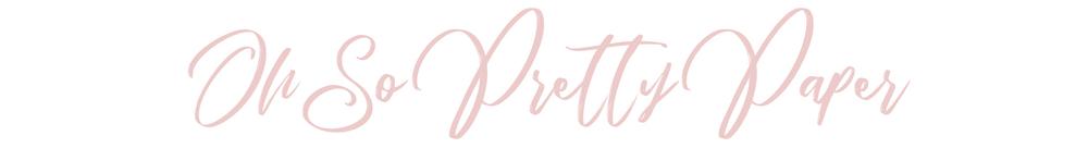 Oh So Pretty Paper, site logo.
