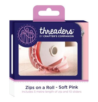 Zips on a Roll - Soft Pink (Custom)