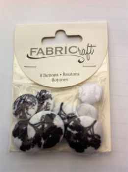 Fabric craft set 8 buttons ref fb52