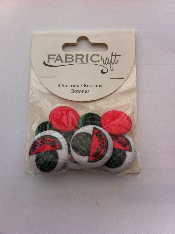 Fabric craft set 8 buttons ref fb77