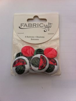 Fabric craft set 8 buttons ref fb77