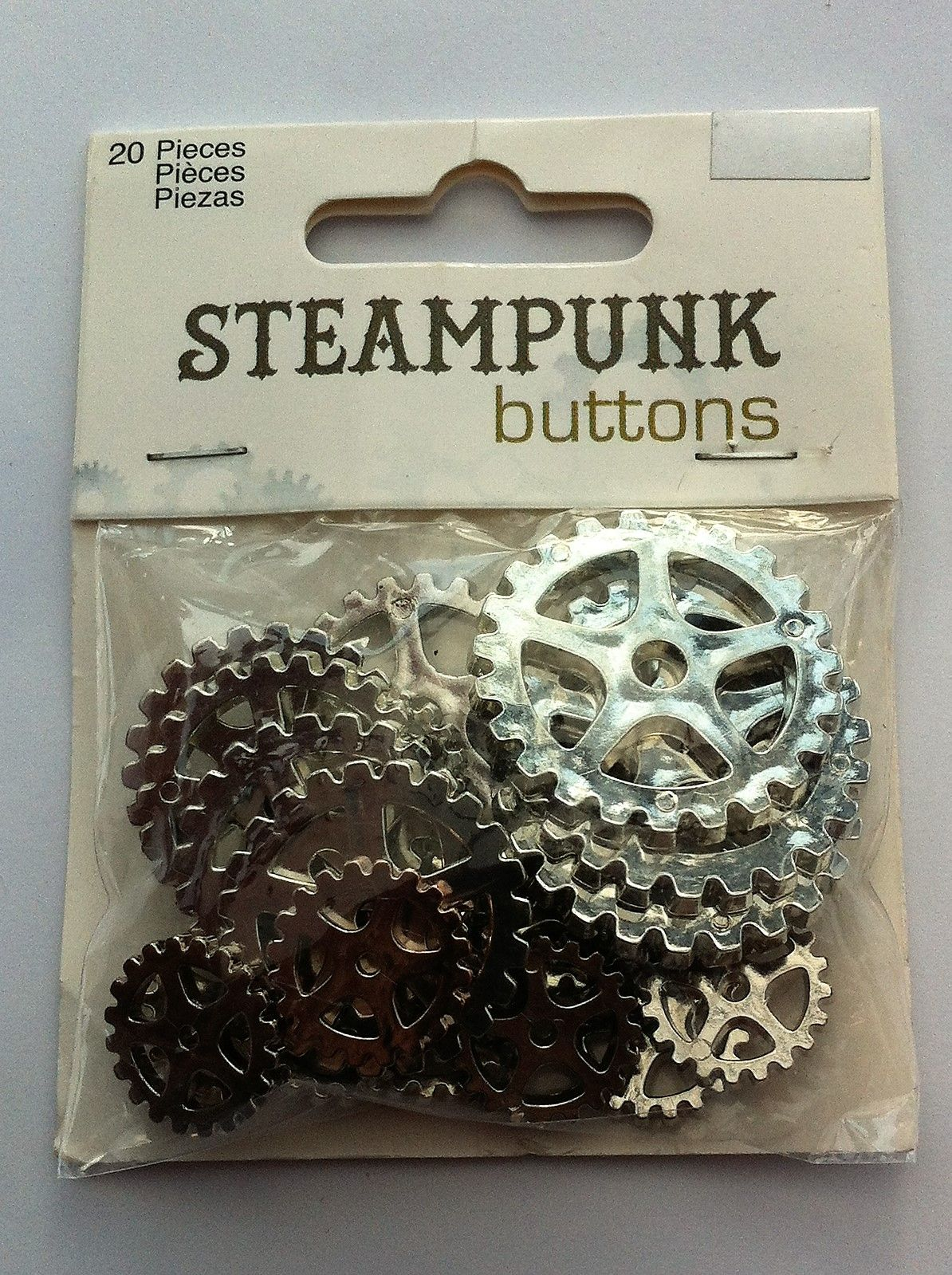 steampunk buttons 1 1/4