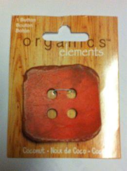 "Organics elements coconut 2"" /50mm button 0r43"