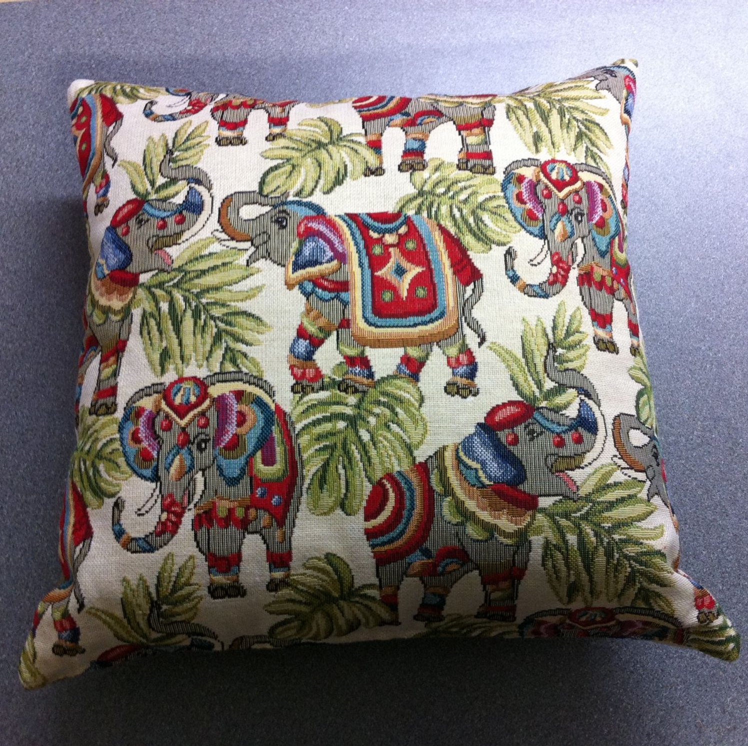 Debby's Patch elephant cushion