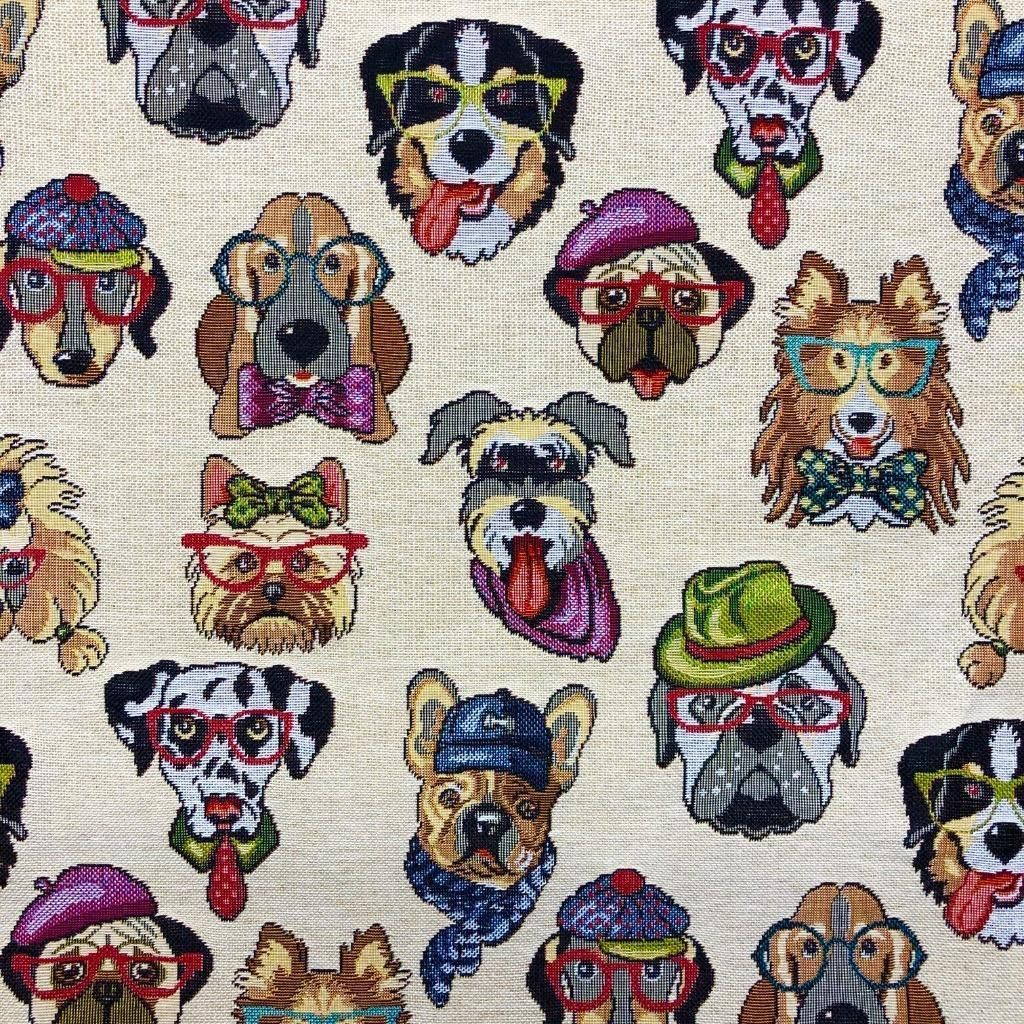 NEW WORLD DOGS TAPESTRY FABRIC