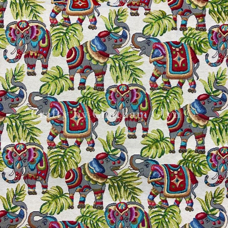 NEW WORLD ELEPHANT TAPESTRY FABRIC