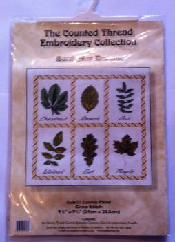 kit 1005 counted cross-stitch kit leaves panel