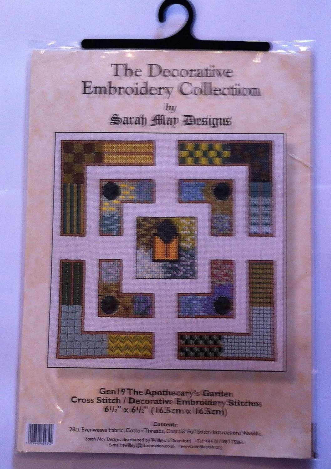 embroidery kit the apothecary's garden ref kit 1007