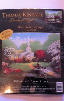 kit 1039 embellished cross-stitch hometown chapel