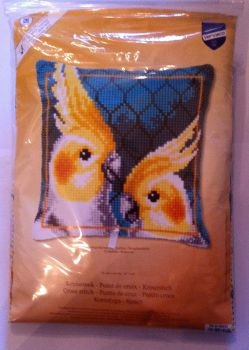 kit 1055 cross-stitch cockatiels