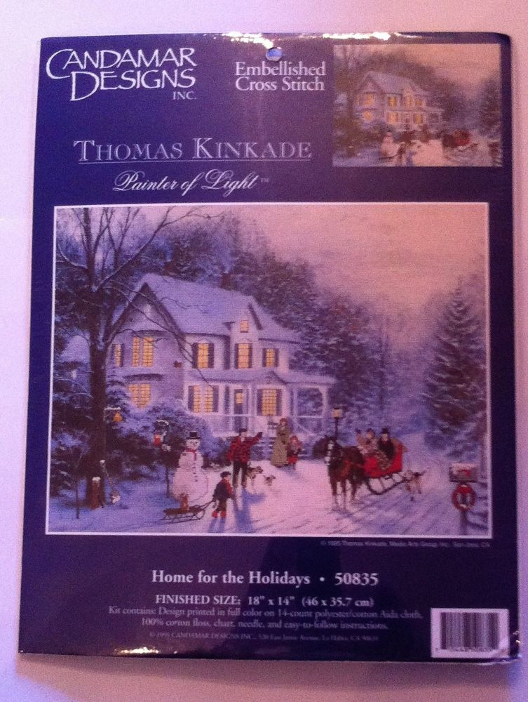 embroidery kit home for the holidays ref kit 1060