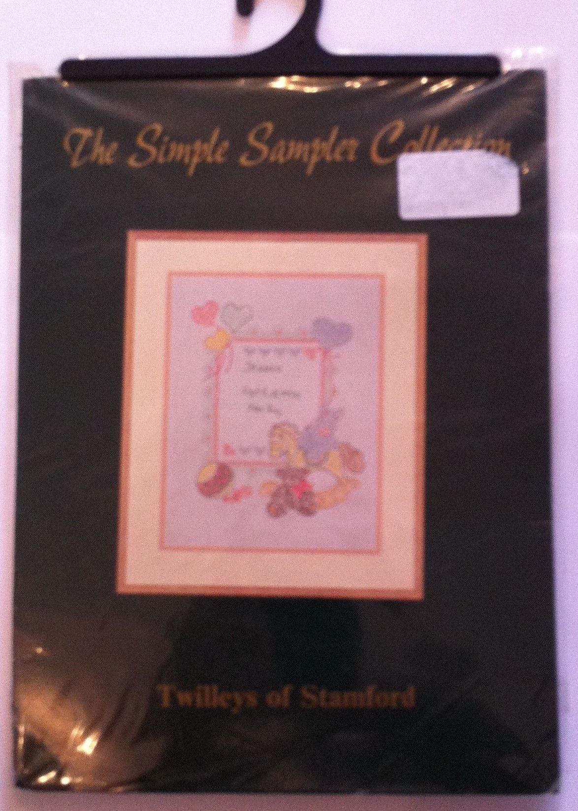 kit 1014 cross-stitch bunny & bear sampler