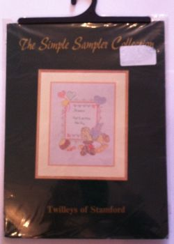 kit 1014 cross-stitch bunny & bear sampler