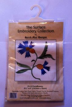 kit 1022  surface embroidery cornflower