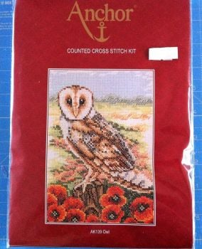 kit 1066 counted cross-stitch owl