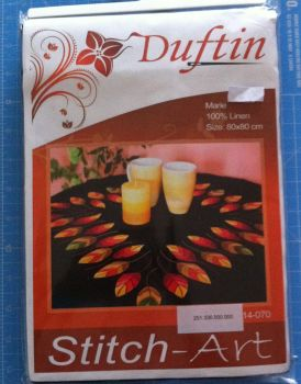 kit 1065 embroidery Marie table cloth 80 x 80cm by Duftin stitch art