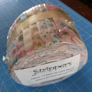 Strippers Mini Jelly roll Birds and Butterflies 1.4 yrds