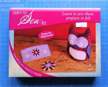 Groves Learn to sew kit felt project owl