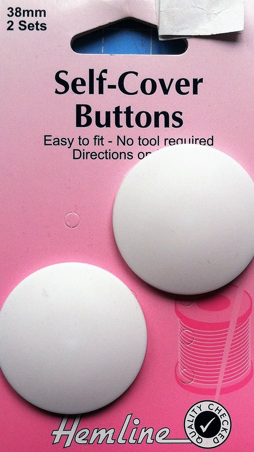 Self-cover buttons by Hemline 29mm 4Xsets
