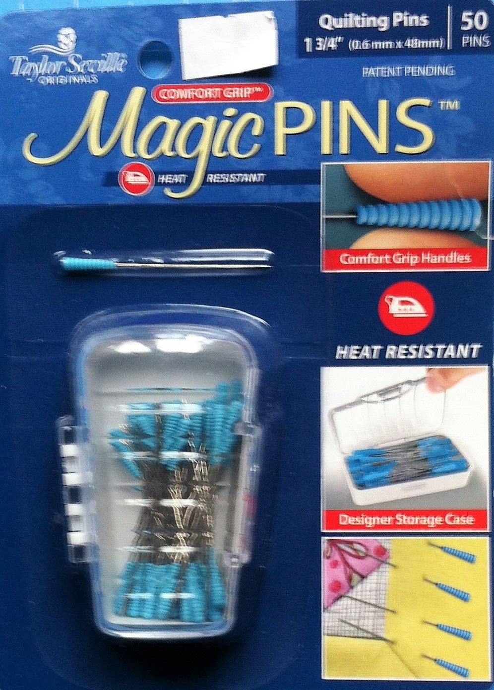 Magic pins for quilting 1 3/4