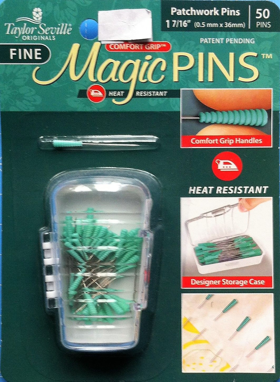Magic pins for patchwork 1 7/16